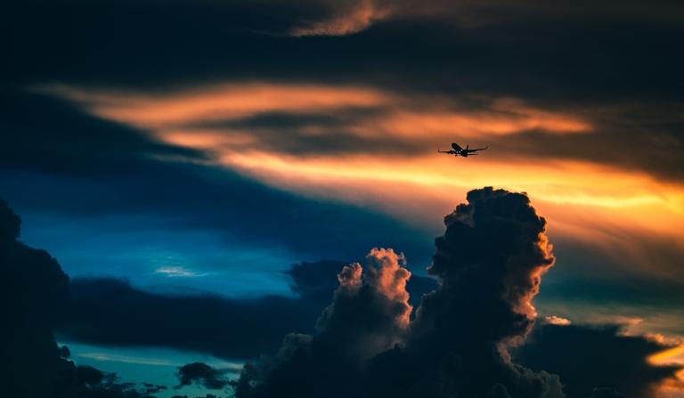 Turbulenzen beim Fliegen