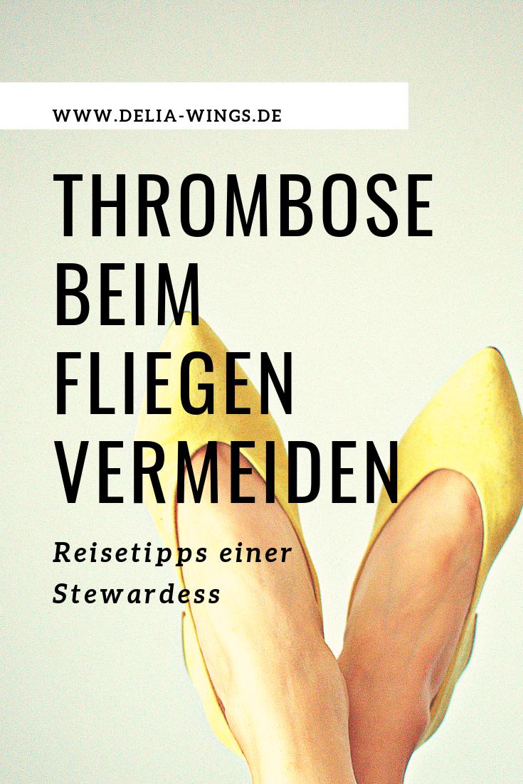 Thrombose beim Fliegen vermeiden - Tipps einer Stewardess