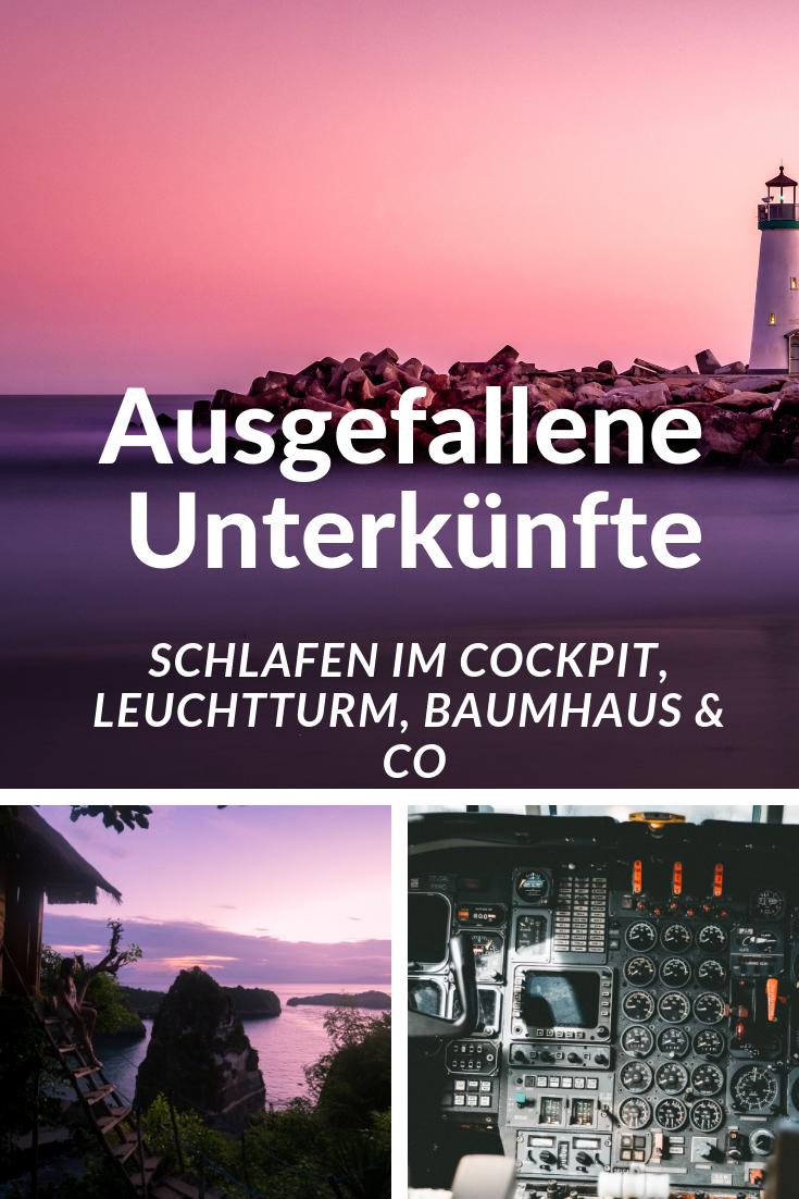 Ausgefallene Unterkünfte - Schlafen im Cockpit, Leuchtturm, Baumhaus & Co