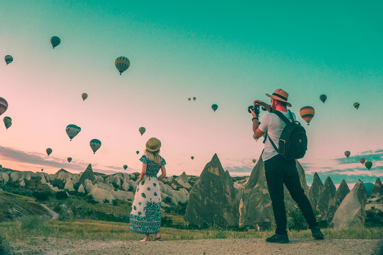 Außergewöhnliche Orte - Heißluftballons