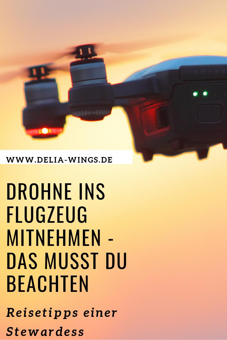 Drohne ins Flugzeug mitnehmen - Das musst du beachten
