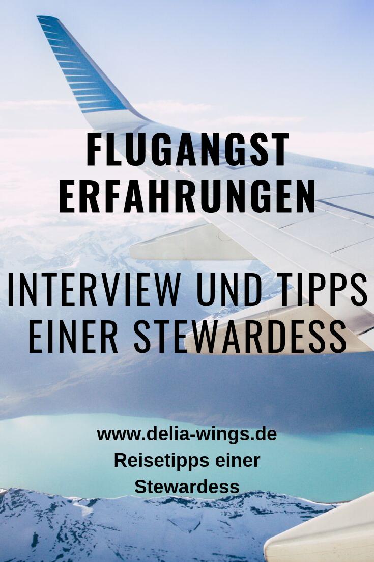 Flugangst Erfahrungen - Interview und Tipps einer Stewardess