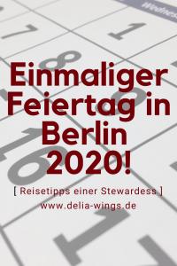 Neuer Feiertag Berlin 2020